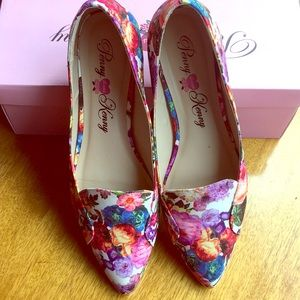 Penny loves Kenny floral flat loafers